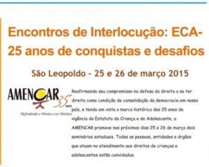 Encontros de Interlocução: ECA – 25 anos de conquistas e desafios