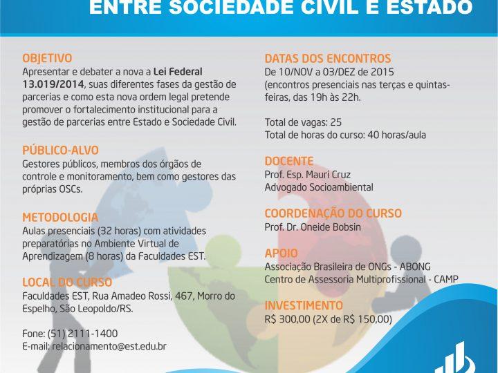 Faculdades EST lança curso de extensão do Programa de Apoio e Fortalecimento de Organizações Sociais