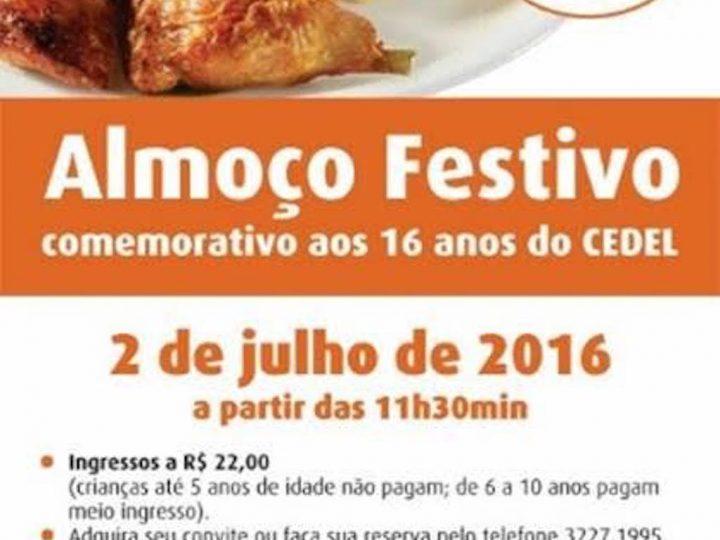 CEDEL promove almoço festivo para comemorar seus 16 anos