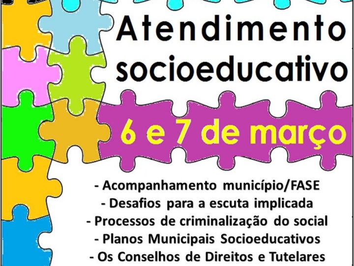 Seminário técnico estadual sobre atendimento socioeducativo – inscreva-se!