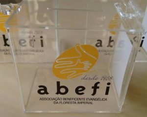 ABEFI distribui cofres para arrecadar doações