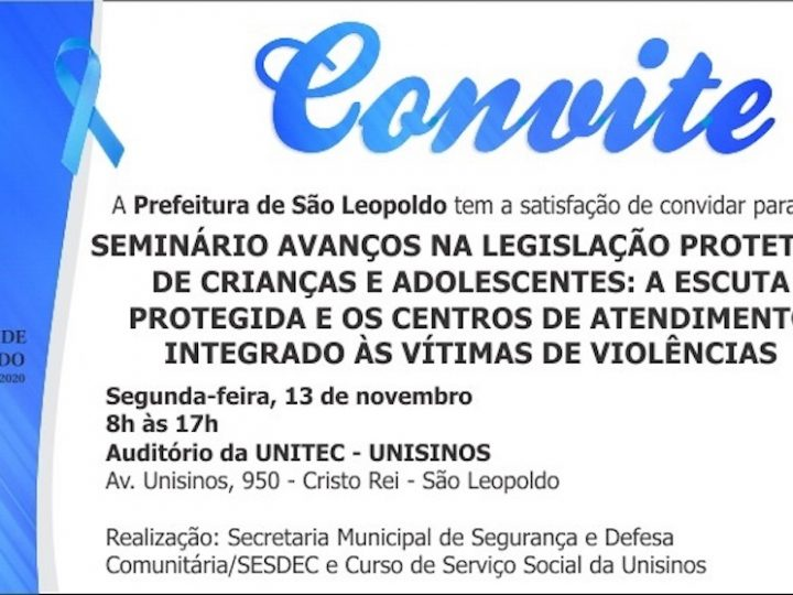 Debate sobre avanços na legislação protetiva de crianças e adolescentes acontece em São Leopoldo