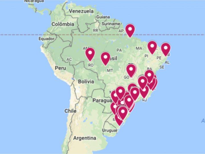 Mapa das instituições é divulgado pela Rede de Diaconia