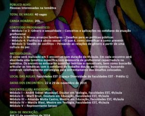 Curso de extensão –  Desafios Atuais na Área dos Direitos Humanos: Gênero e Sexualidade