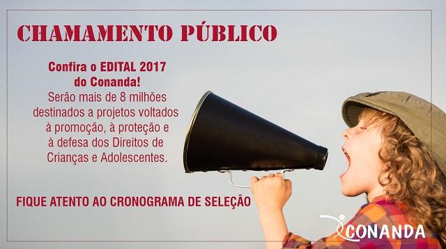 Conanda abre edital para projetos na área de Direitos de crianças e adolescentes